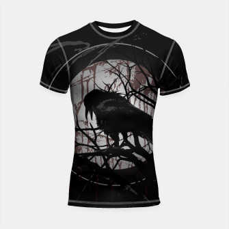 Thumbnail image of Blood Moon Raven Shortsleeve rashguard, Live Heroes