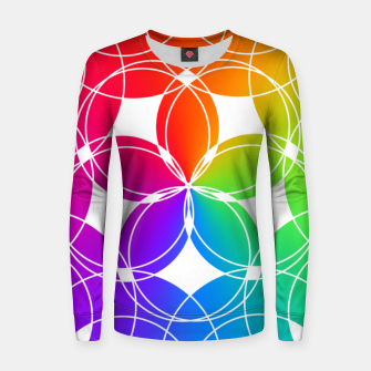 Miniature de image de Rainbow Pattern  Women sweater, Live Heroes