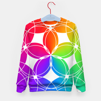 Miniature de image de Rainbow Pattern  Kid's sweater, Live Heroes