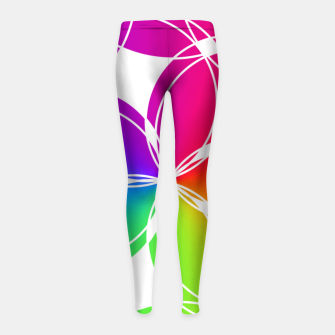 Miniature de image de Rainbow Pattern  Girl's leggings, Live Heroes