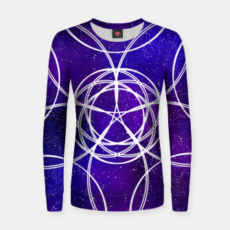 Thumbnail image of Galaxy Pattern Women sweater, Live Heroes