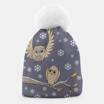 Miniatur Owls in the snow beanie, Live Heroes