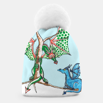 Thumbnail image of Dragons in snow beanie, Live Heroes