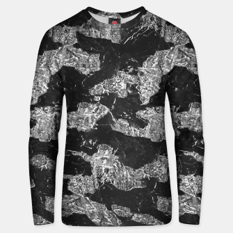 Thumbnail image of Black and White Camouflage Texture Print Unisex sweater, Live Heroes