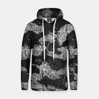 Thumbnail image of Black and White Camouflage Texture Print Hoodie, Live Heroes
