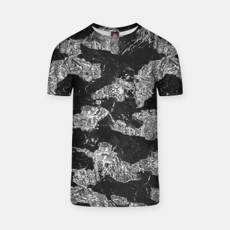 Thumbnail image of Black and White Camouflage Texture Print T-shirt, Live Heroes