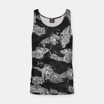 Thumbnail image of Black and White Camouflage Texture Print Tank Top, Live Heroes