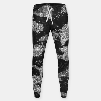 Thumbnail image of Black and White Camouflage Texture Print Sweatpants, Live Heroes