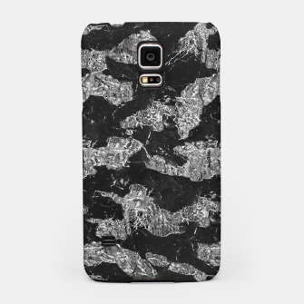 Thumbnail image of Black and White Camouflage Texture Print Samsung Case, Live Heroes