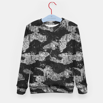 Thumbnail image of Black and White Camouflage Texture Print Kid's sweater, Live Heroes