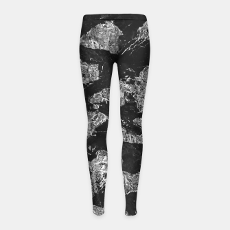 Thumbnail image of Black and White Camouflage Texture Print Girl's leggings, Live Heroes
