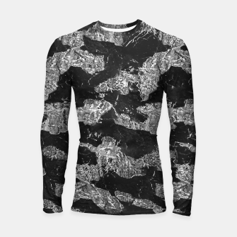 Thumbnail image of Black and White Camouflage Texture Print Longsleeve rashguard , Live Heroes