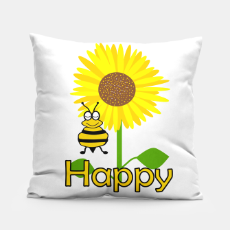 Miniatur Be Happy Pillow, Live Heroes