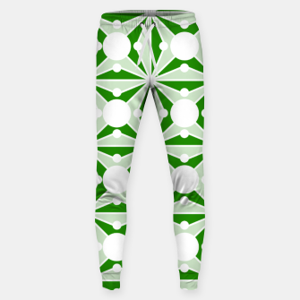 Miniatur Abstract geometric pattern - green and white. Sweatpants, Live Heroes