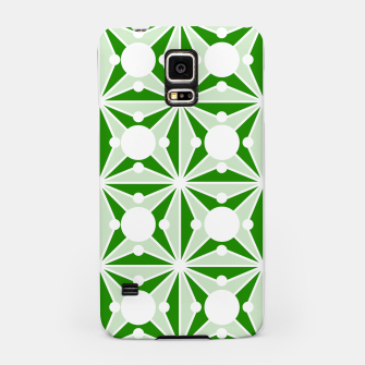 Miniatur Abstract geometric pattern - green and white. Samsung Case, Live Heroes