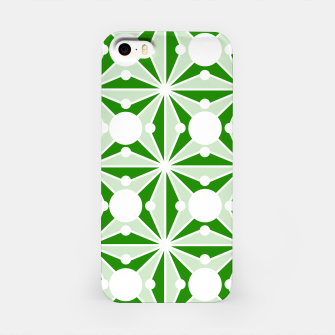 Miniatur Abstract geometric pattern - green and white. iPhone Case, Live Heroes