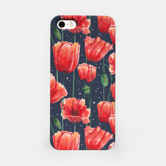 Poppies Garden Carcasa por Iphone Bild der Miniatur
