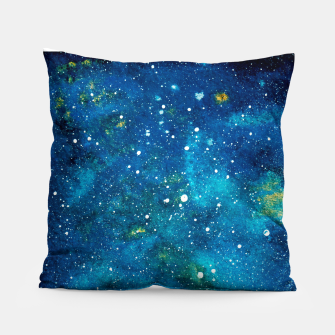 Thumbnail image of Blue Bright night sky Pillow, Live Heroes