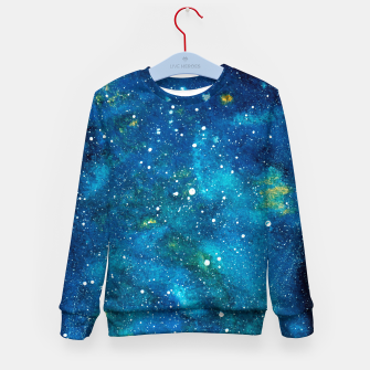 Thumbnail image of Blue Bright night sky Kid's sweater, Live Heroes
