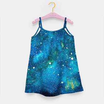 Thumbnail image of Blue Bright night sky Girl's dress, Live Heroes