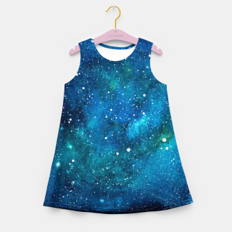 Thumbnail image of Blue Bright night sky Girl's summer dress, Live Heroes