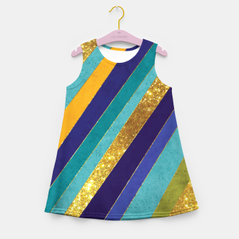 Thumbnail image of Lines Girl's summer dress, Live Heroes