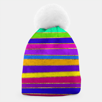 Thumbnail image of Vertical Stripes Beanie, Live Heroes