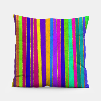 Thumbnail image of Vertical Stripes Pillow, Live Heroes
