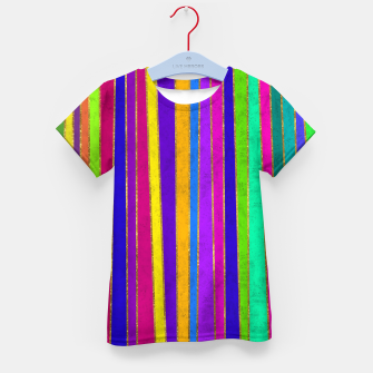 Thumbnail image of Vertical Stripes Kid's t-shirt, Live Heroes