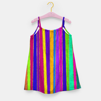 Thumbnail image of Vertical Stripes Girl's dress, Live Heroes