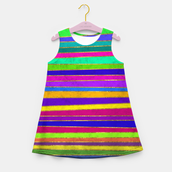 Thumbnail image of Vertical Stripes Girl's summer dress, Live Heroes