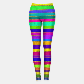 Thumbnail image of Vertical Stripes Leggings, Live Heroes