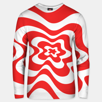 Imagen en miniatura de Abstract pattern - red and white. Unisex sweater, Live Heroes