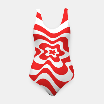 Imagen en miniatura de Abstract pattern - red and white. Swimsuit, Live Heroes