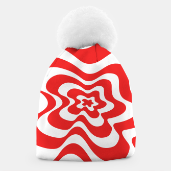 Imagen en miniatura de Abstract pattern - red and white. Beanie, Live Heroes