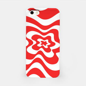 Imagen en miniatura de Abstract pattern - red and white. iPhone Case, Live Heroes