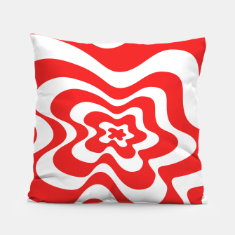 Imagen en miniatura de Abstract pattern - red and white. Pillow, Live Heroes