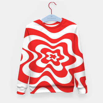 Imagen en miniatura de Abstract pattern - red and white. Kid's sweater, Live Heroes