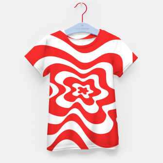 Imagen en miniatura de Abstract pattern - red and white. Kid's t-shirt, Live Heroes