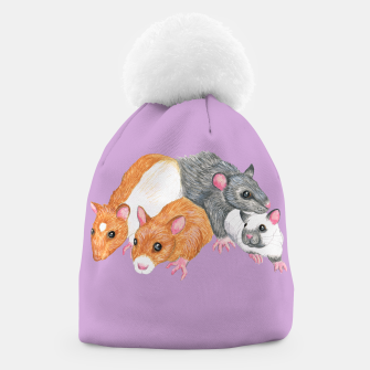 Thumbnail image of rat mischief beanie, Live Heroes