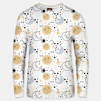 Thumbnail image of Galaxy Lover Gifts Starry Sky Sun Half Moon Sketch Style Unisex sweater, Live Heroes