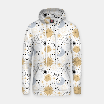 Thumbnail image of Galaxy Lover Gifts Starry Sky Sun Half Moon Sketch Style Hoodie, Live Heroes