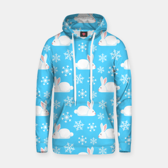 Thumbnail image of Snowflakes Pattern Cute Bunny Merry Christmas Gift Hoodie, Live Heroes