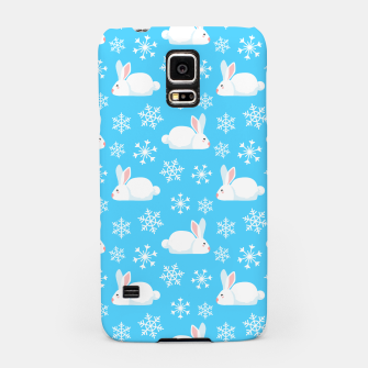 Thumbnail image of Snowflakes Pattern Cute Bunny Merry Christmas Gift Samsung Case, Live Heroes