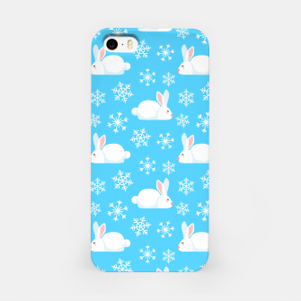 Thumbnail image of Snowflakes Pattern Cute Bunny Merry Christmas Gift iPhone Case, Live Heroes