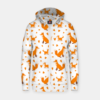 Miniatur Cute Baby Fox Happy Mothers Day Gifts Wild Animal Lover Zip up hoodie, Live Heroes