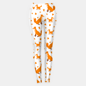 Thumbnail image of Cute Baby Fox Happy Mothers Day Gifts Wild Animal Lover Leggings, Live Heroes