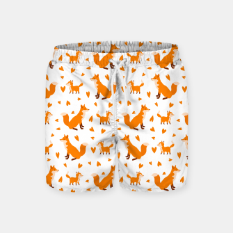 Miniatur Cute Baby Fox Happy Mothers Day Gifts Wild Animal Lover Swim Shorts, Live Heroes
