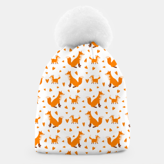 Miniatur Cute Baby Fox Happy Mothers Day Gifts Wild Animal Lover Beanie, Live Heroes