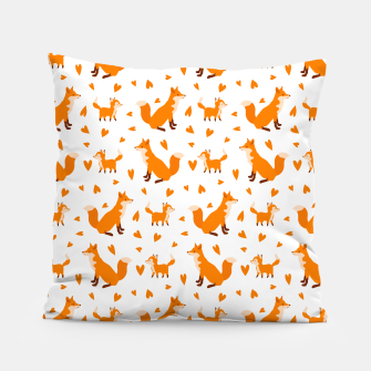 Miniatur Cute Baby Fox Happy Mothers Day Gifts Wild Animal Lover Pillow, Live Heroes